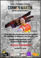 Clínic d'handbol femení Carmen Martin.