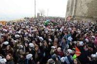 El cor solidari de Lleida es 'Posa la gorra' a la Seu Vella en la festa d'Afanoc