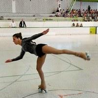 Exhibició de la campiona d'Europa de patinatge artístic Mònica Gimeno a Esportmania