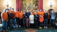 L'Actel Força Lleida visita la Paeria i la Casa dels Gegants