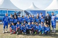 L'alcalde de Lleida visita el campus Allianz per a joves motoristes de Rufea, amb el campió mundial Àlex Màrquez