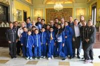 L'alcalde Ros rep a la Paeria el Lleida Llista Mèxic
