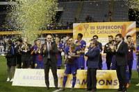 Lleida viu la festa del futbol català amb el Camp d'Esports ple i especial presència del futbol base