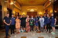 Recepció a la Paeria a l'equip de futbol sala Restaurant Lo Caragol Lleida