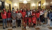 Recepció al Club de Bàsquet Lleida amb motiu de l'ascens a Lliga Femenina 2