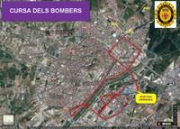 Talls de trànsit i desviaments de la circulació amb motiu de la IX Cursa dels Bombers