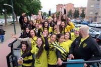 Els equips de futbol femení i benjamí de Pardinyes celebren l'ascens de categoria