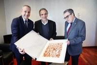 L'alcalde Àngel Ros es reuneix amb el president de la Federació Espanyola d' Hanbdbol per preparar l'organització del Mundial d'Handbol Femení de 2021