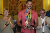 L'alcalde de Lleida felicita Saúl Craviotto, Premio Nacional del Deporte 2016