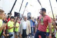Lleida viu l'eufòria olímpica amb Saúl Craviotto.