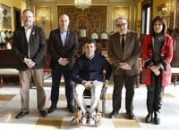 Recepció a Isidre Esteve a l'Ajuntament de Lleida amb motiu del Rally Dakar 2018