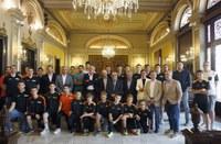 Recepció a la Paeria a l'Actel Força Lleida