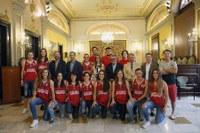 Recepció institucional al sènior femení del CB Lleida pel seu ascens a Copa Catalana